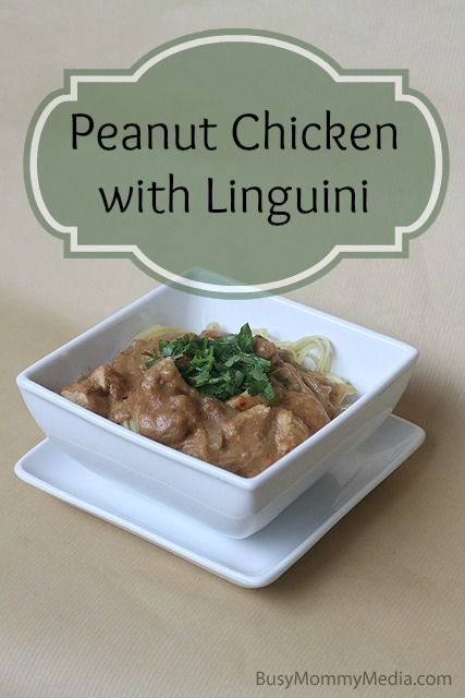 Peanut Chicken with Linguini