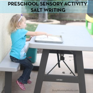 Preschool Sensory Activity – Salt Writing