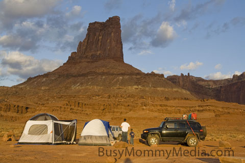 Camping in Moab, Utah on BusyMommyMedia.com