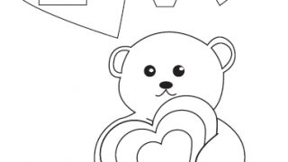 Free Printable: Valentines Day Coloring Page