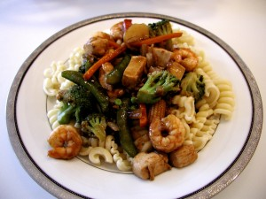 Recipe: Chicken And Shrimp With Pasta