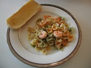 Garlic Shrimp with Bowtie Pasta
