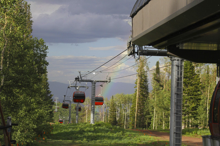 rainbow in Park City