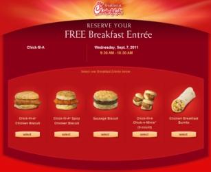 free chick-fil-a breakfast