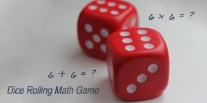 dice rolling math game