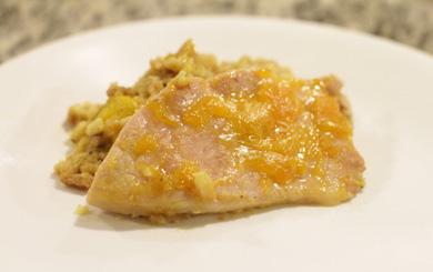 peach glazed pork chops