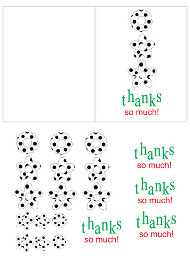 "Free Printable Thank You card: ""Thanks So Much"""