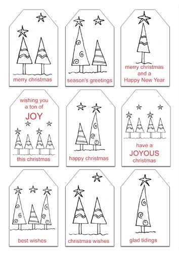 Christmas Gift Tags For Kids.Free Christmas Printables Gift Tags And Notepaper With