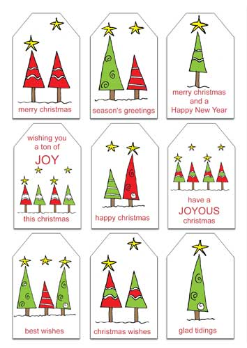 photo relating to Free Christmas Tag Printable referred to as Free of charge Xmas Printables: Reward Tags and Notepaper with
