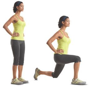 lunges at home fitness