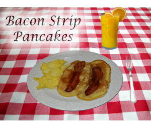 Bacon Strip Pancakes With Oven Baked Bacon