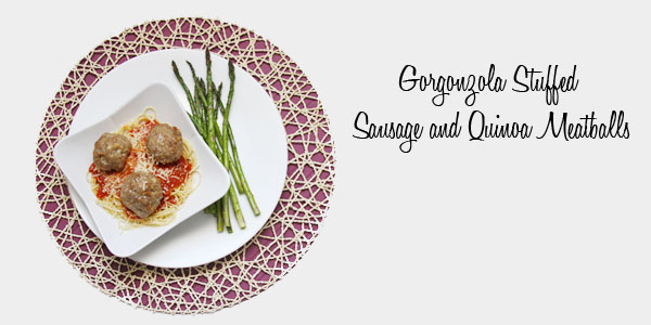 Gorgonzola Stuffed Meatballs