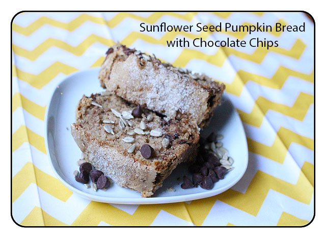 Sunflower Seed Pumpkin Bread with Chocolate Chips on BusyMommyMedia.com