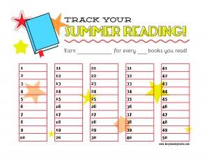 printable summer reading chart