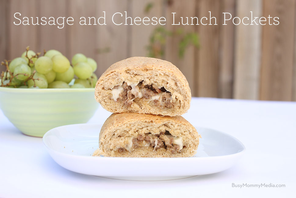 Sausage and cheese lunch pockets