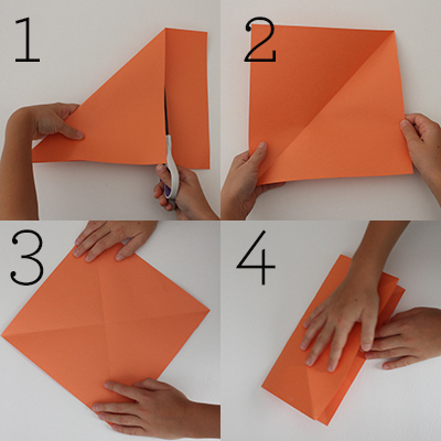 Jack O Lantern Construction Paper Craft