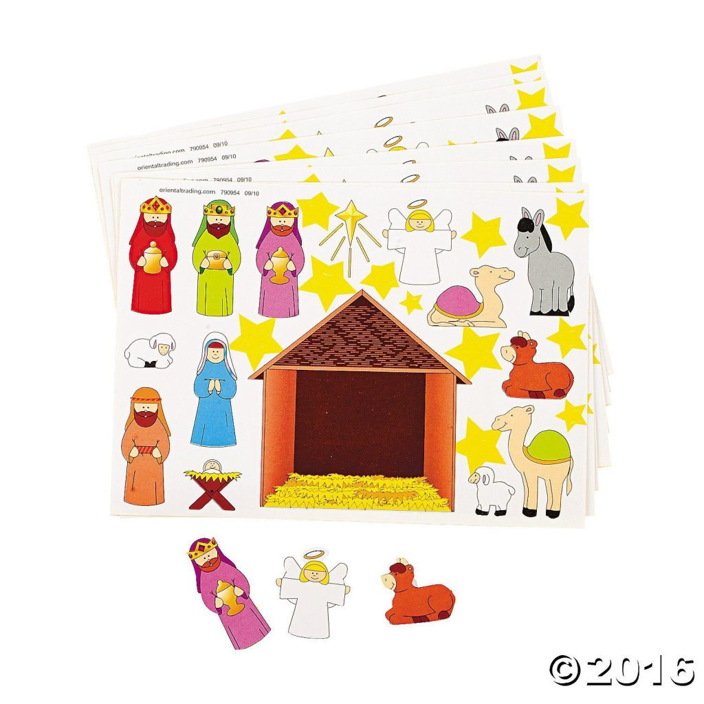 sticker nativity sheet