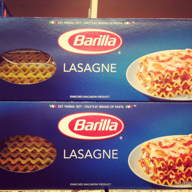 Barilla Lasagne Noodles