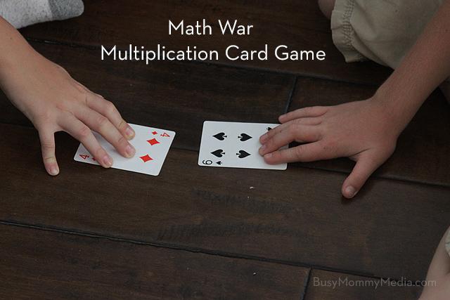 how to play math war card game
