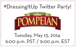RSVP for the #DressingItUp Twitter Party with Pompeian!