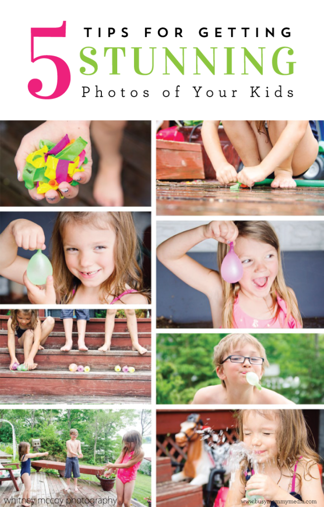 5 Tips to get Stunning Photos of your Kids - Great tips for mom photographers!!