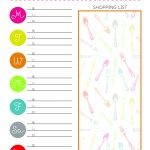 Use this free printable meal planning chart to help you get dinner on the table.
