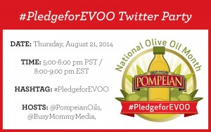 RSVP for the #PledgeforEVOO Twitter Party