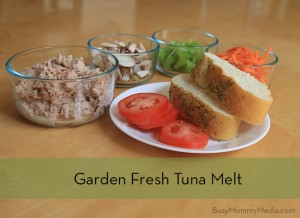 Easy School Night Meal – Garden Fresh Tuna Melts