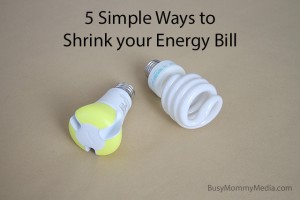 5 Simple Ways to Shrink your Energy Bill