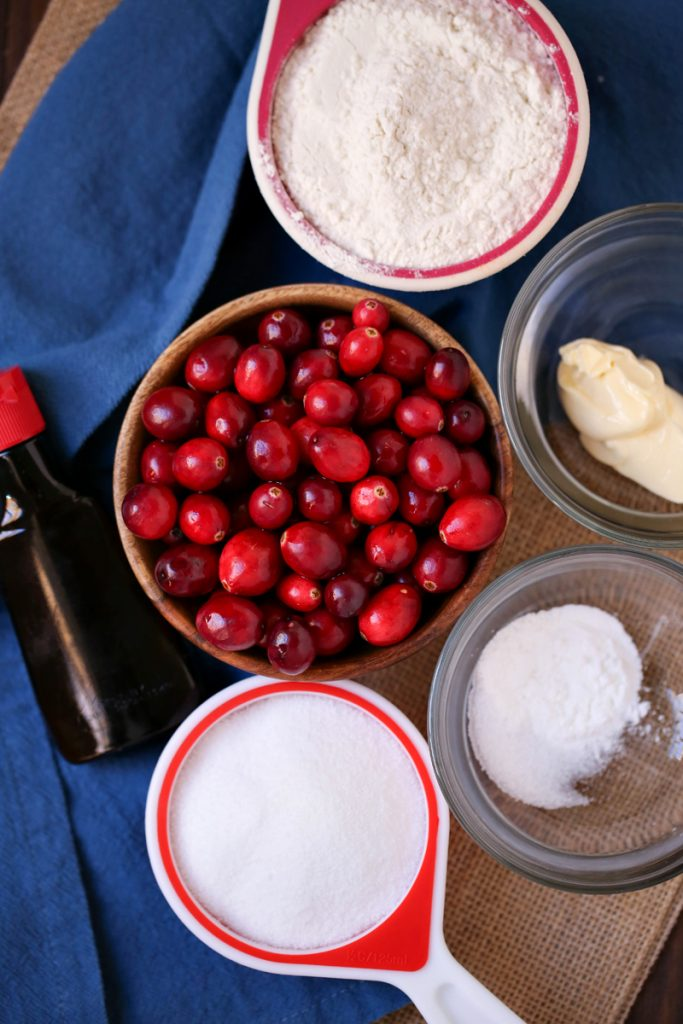 cranberry muffin ingredients