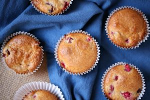 Festive Holiday Cranberry Muffins with Rich Butter Sauce