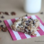 Chocolate pecan cookie bar