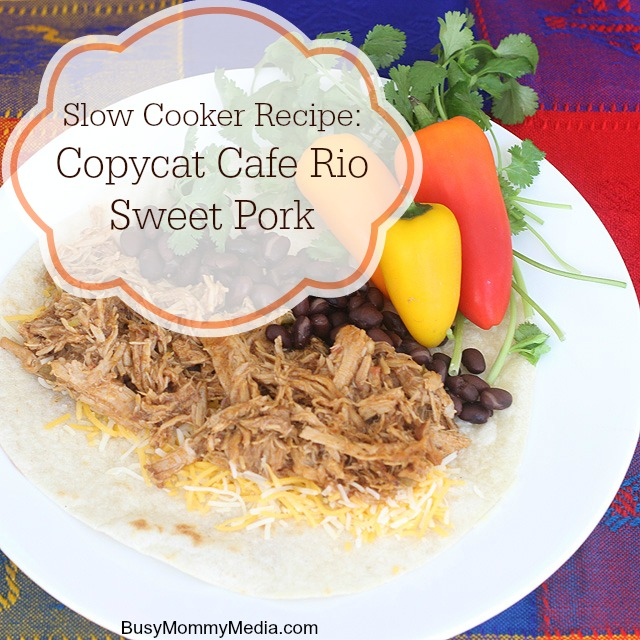 Cafe Rio Sweet Pork Burrito Nutrition