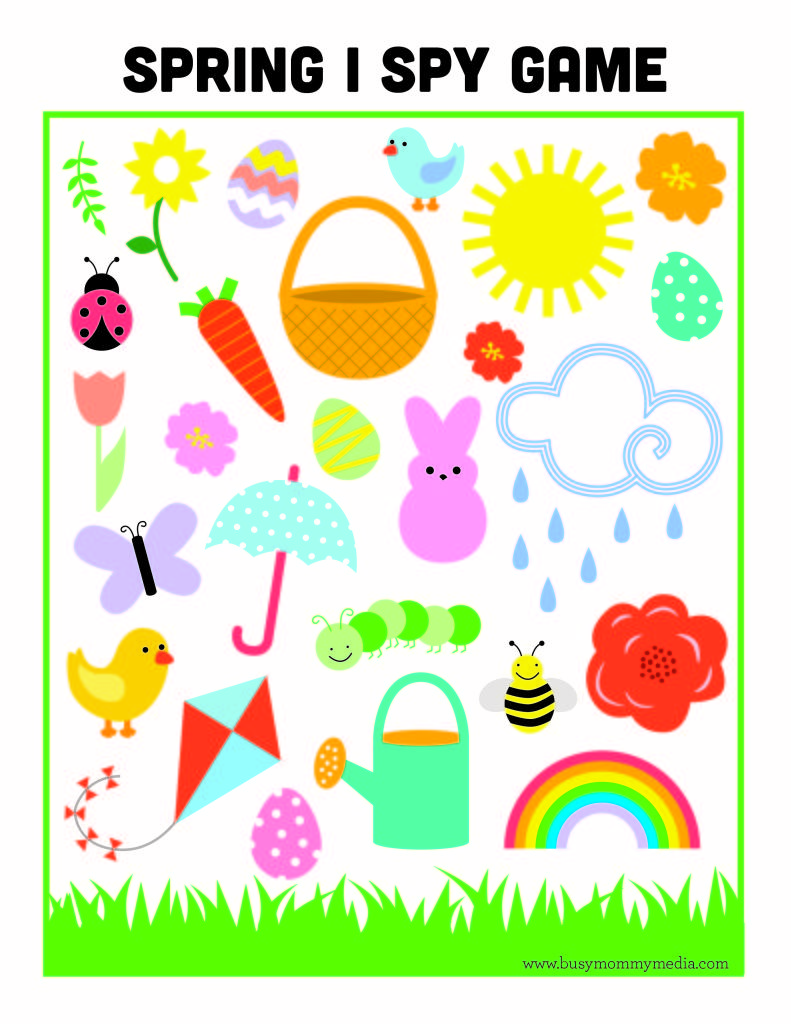photo about I Spy Printable called No cost Printable - Spring I Spy Match