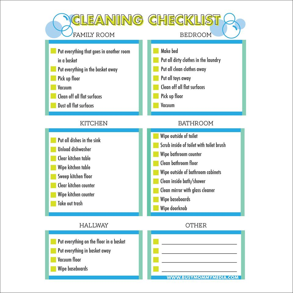 graphic relating to Free Printable Cleaning Schedule identify No cost Printable - Cleansing List for Youngsters