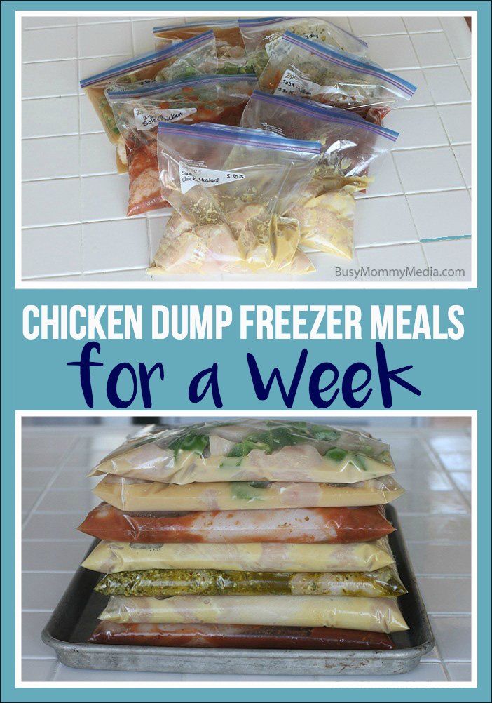 Chicken Dump Freezer Meals For a Week - Make 7 dinners in less than an hour with these quick freezer meals!