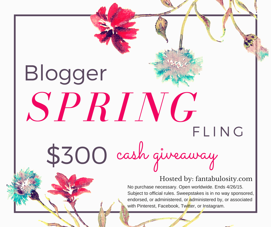 Blogger Spring Fling Cash Giveaway