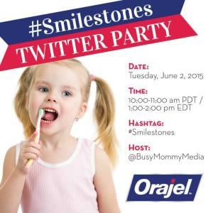 RSVP for the Orajel #Smilestones Twitter Party
