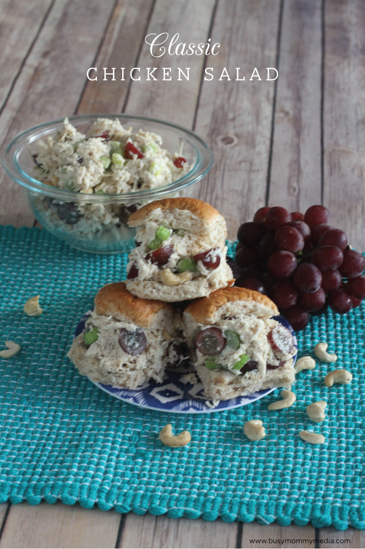 Classic Chicken Salad - This is a delicious chicken salad recipe that is perfect for a light lunch. Everyone loved this when I made it!