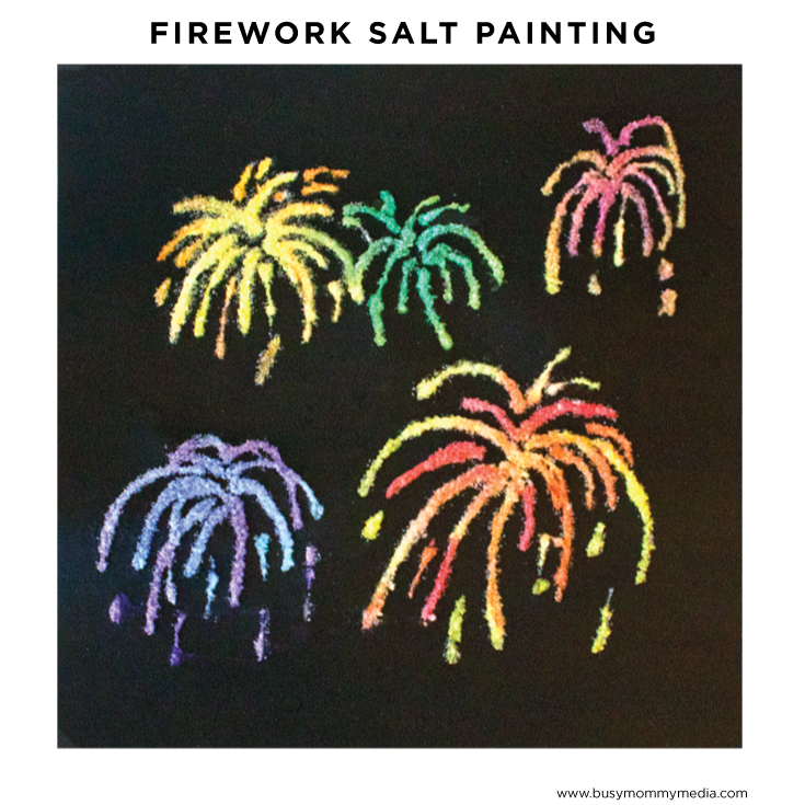 firework salt painting
