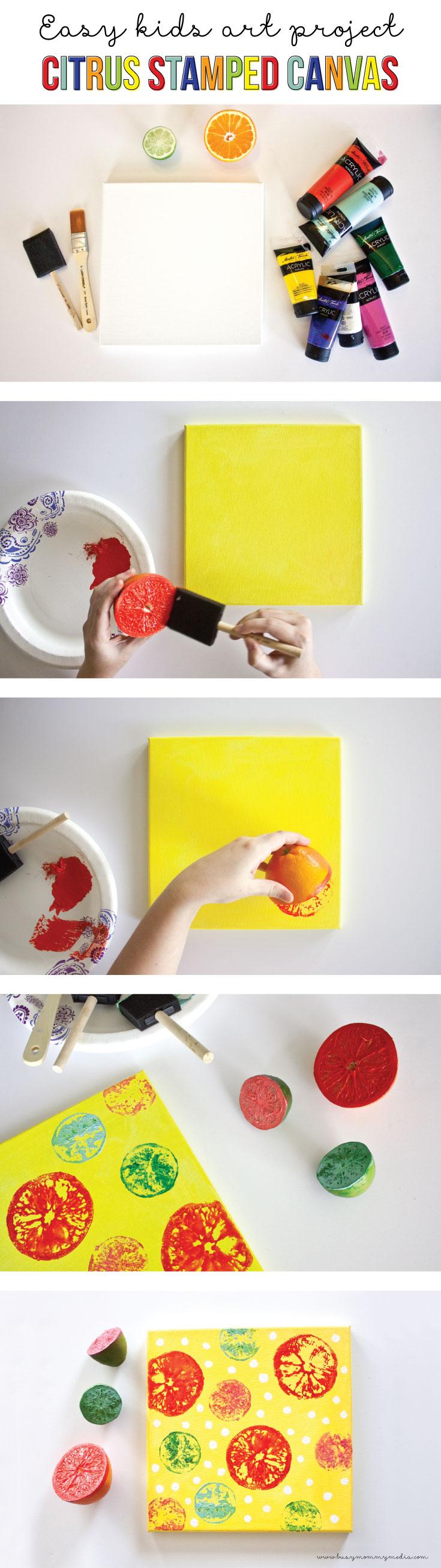 kids canvas art project