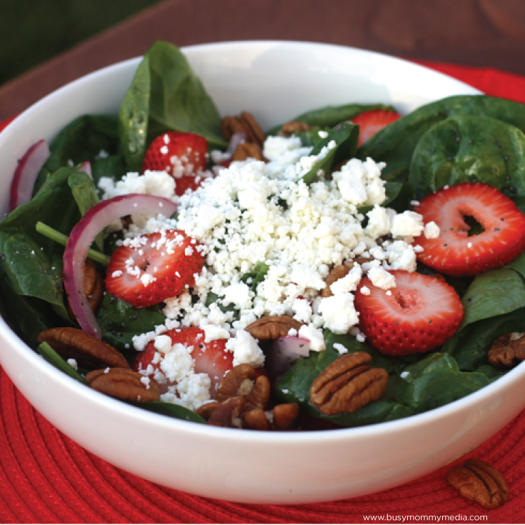 Strawberry Spinach Salad - This salad is perfect for summer and so yummy feels like a splurge.