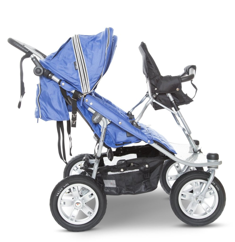 The Valco Tri-Mode stroller with Joey seat makes an AWESOME triple stroller for twins plus one.