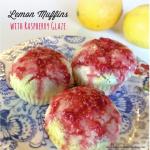Lemon-muffins-with-raspberry-glaze