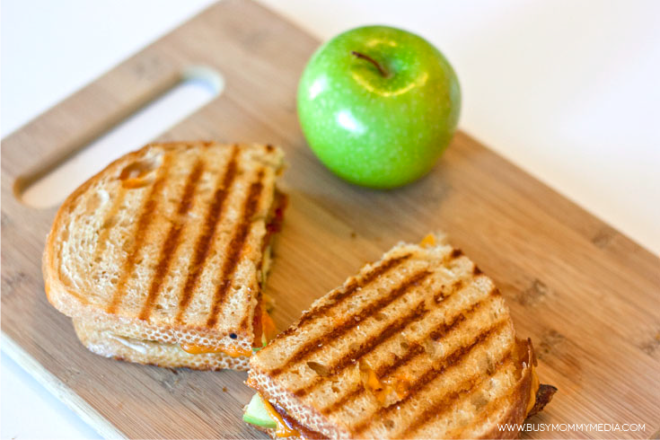 ABC Grilled Cheese (Apple, Bacon, Cheese) from BusyMommyMedia.com