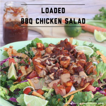 Loaded BBQ Chicken Salad from BusyMommyMedia.com