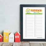 Printable Summer Bucket List