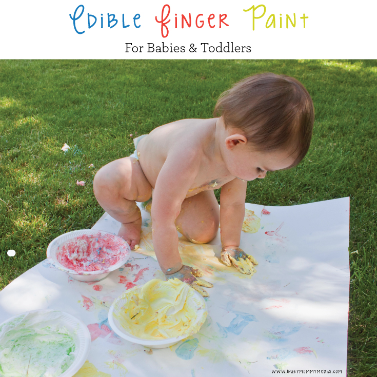 Edible Finger Paint - This is a great sensory project for babies! LOVE this!