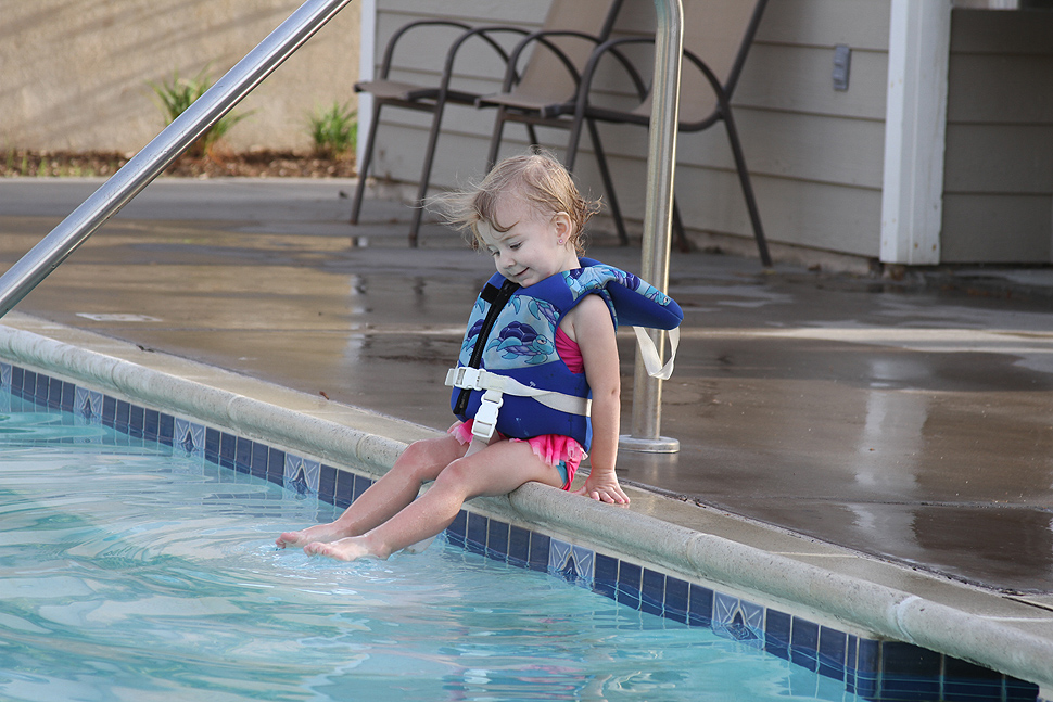 Water Safety - Life jackets should be coast-guard approved and stay on until you leave the pool