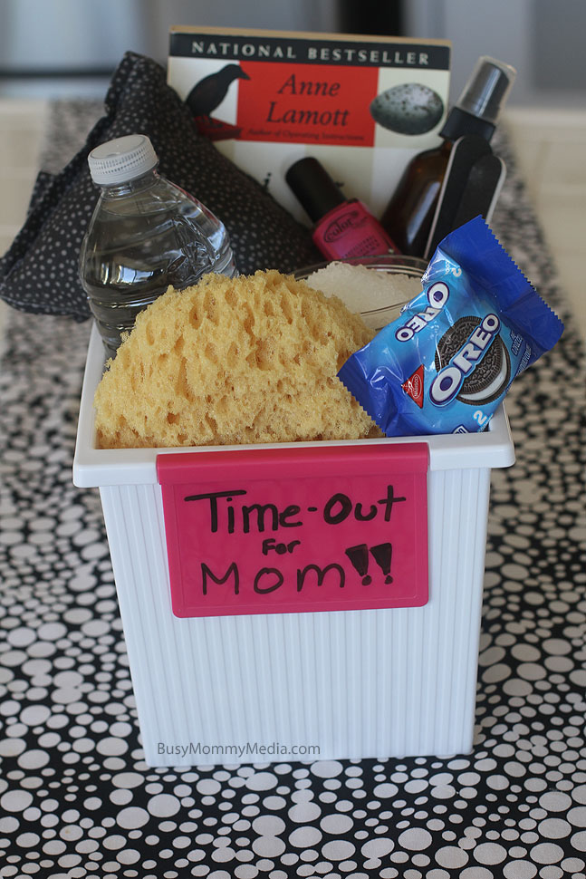 Create a Time Out Box for Moms - Great stress management tip for busy moms!